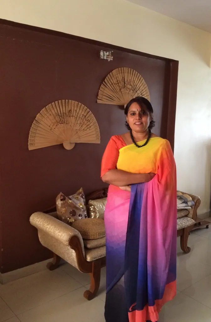 Sky - colours in a saree