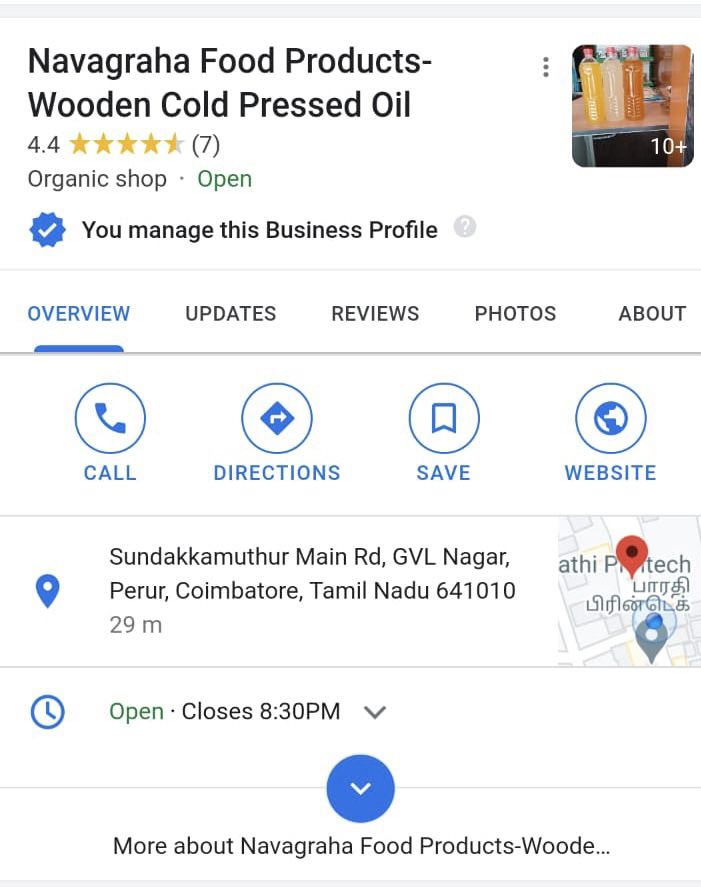 Cold Press oil - marachekku yennai