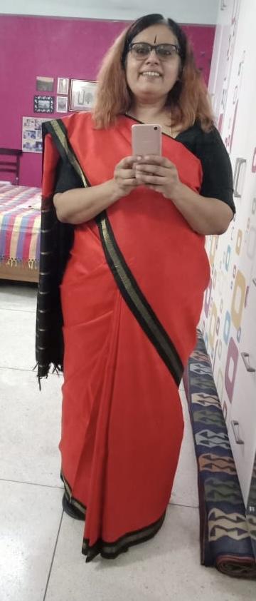 Saree - Orange Silk