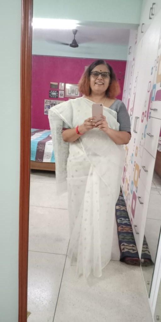 White Jamdani