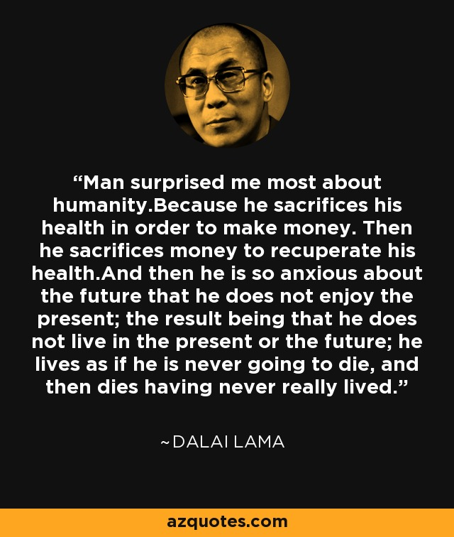 Dalai Lama on health