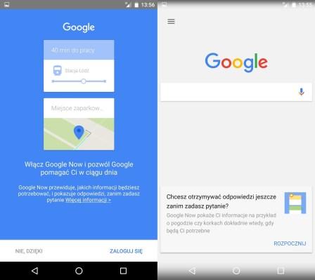 Huawei Nexus 6P - konfiguracja Google Now - recenzja 90sekund.pl