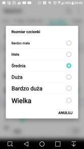 Ustawienia czcionki w LG X Power - 90sekund.pl