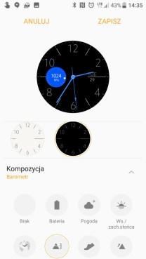 Samsung Gear S3 - przykład personalizacji z poziomu aplikacji Gear - 90sekund.pl
