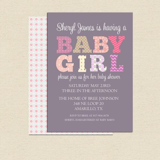 Diy Printable Baby Shower Invitation
