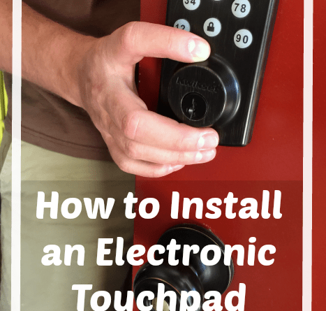 How to Install an Electronic Touchpad Deadbolt. Eliminate the need for keys- no more lockouts or hiding spares under the mat. Easy to install and program with this handy tutorial.