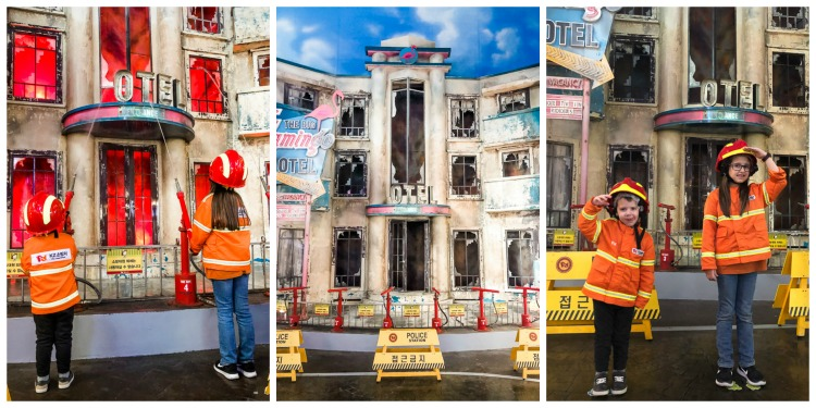 firefighter pretend play at Kidzania