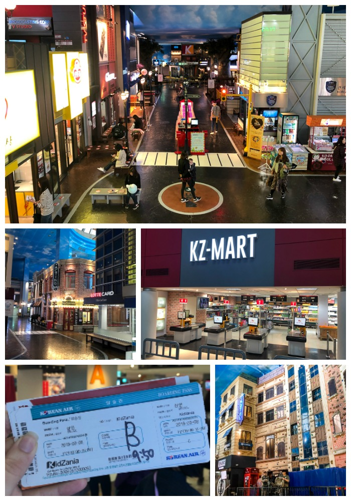 pretend indoor city at Kidzania