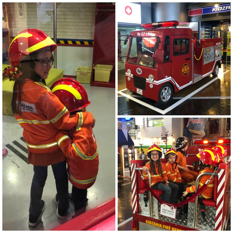 pretend firetruck at Kidzania
