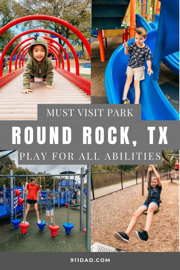 Play for All Abilities Park in Round Rock, TX | My kids (13, 8, 5, 3) had SO much fun at this park. We stopped here to stretch our legs and eat lunch during a camping trip and I think this was the highlight of the trip for them.