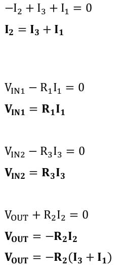 operational amplifier task formulas 61