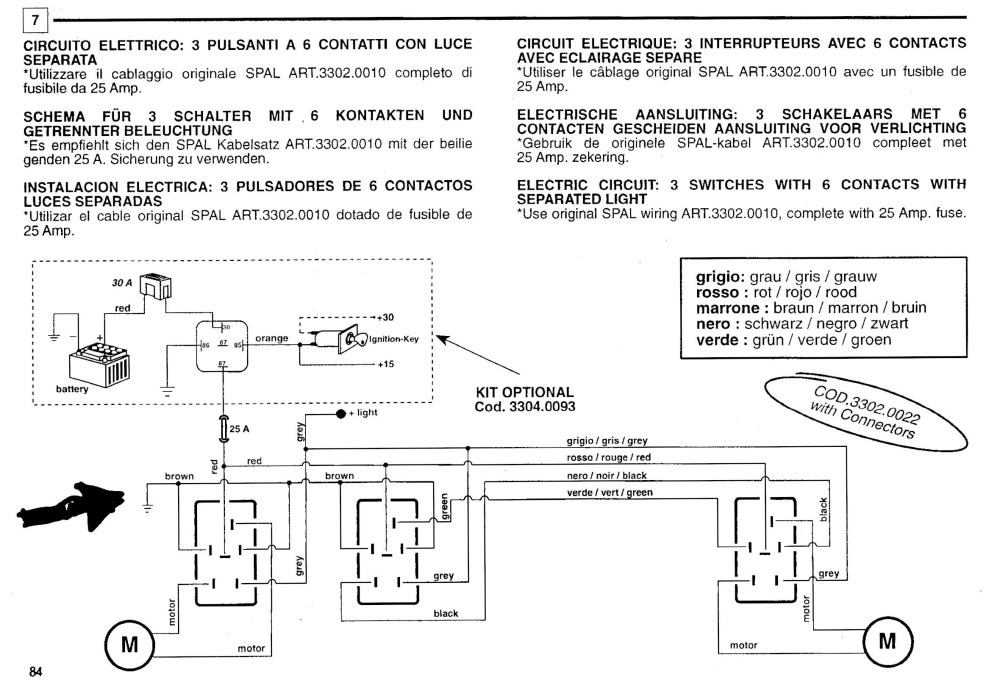 medium resolution of spal wiring diagram