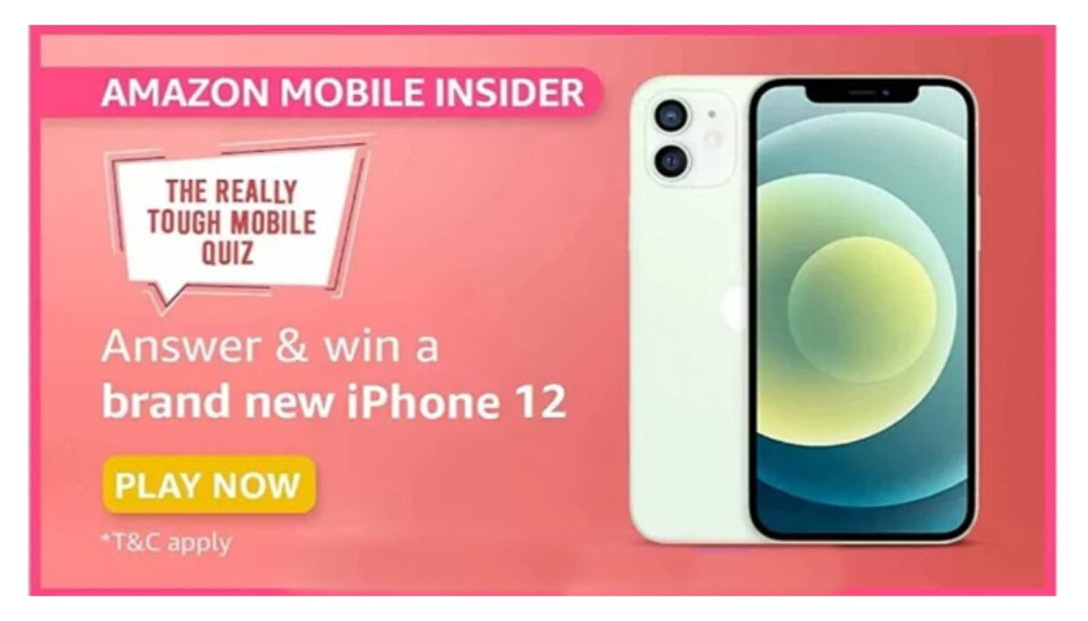 Amazon Mobile Insider Quiz Answers Win IPhone 12 1200x685 1