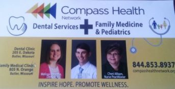 COMPASS HEALTH BUSINESS CARD FROM THE MAIL