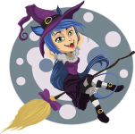 halloween witch cartoon pic