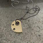 RockHard Necklace bronze on blackened 925 ball chain