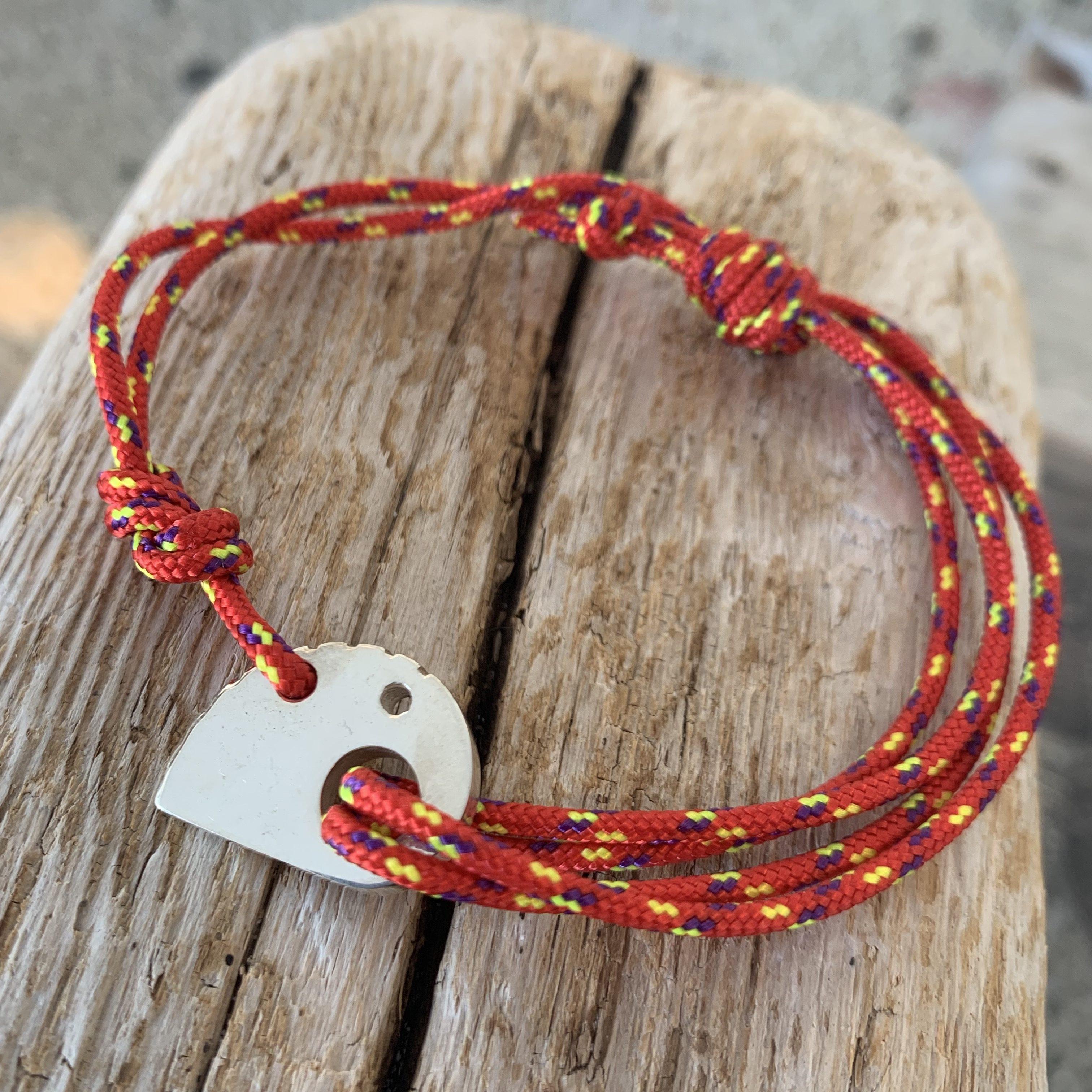 RockHard Bracelet Red Ropestring