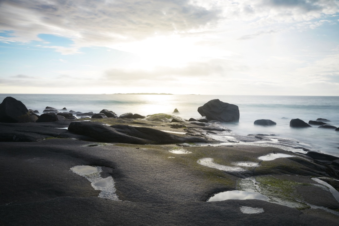 Picture of a Rock Surface and the Sea