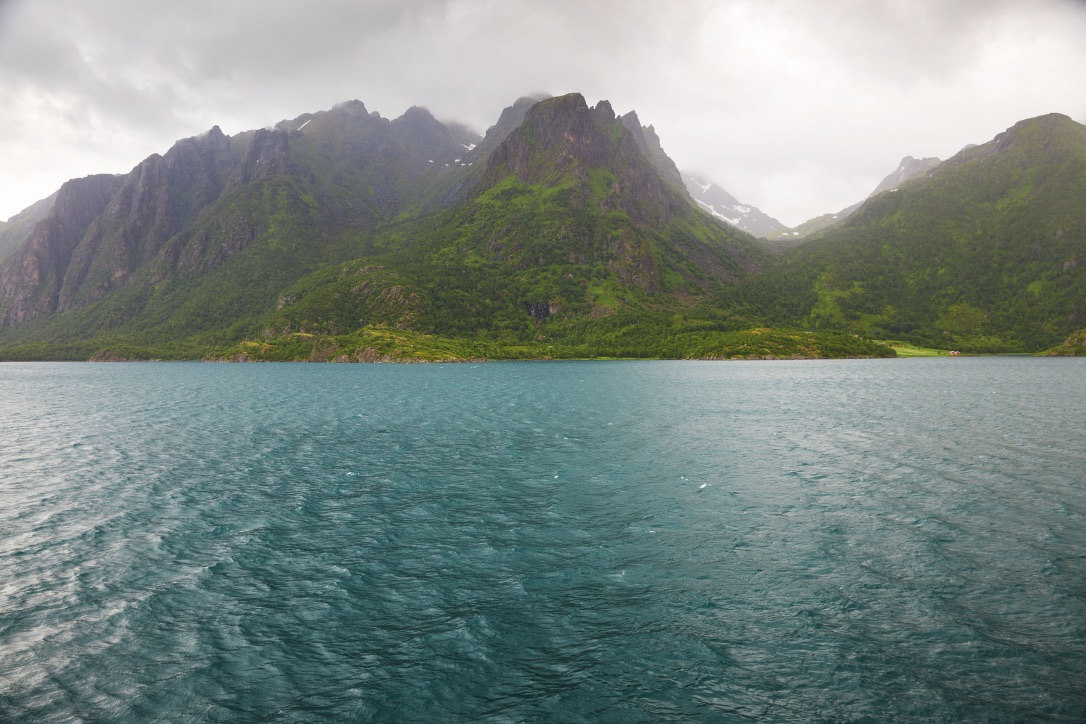 Picture of Lofoten Mountains from the Sea