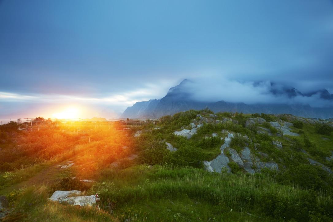Picture of a Lofoten Midnight Sun