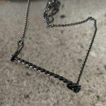 ICE Necklace blackened oxidised