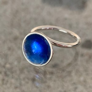 Dots Ring Electric Blue