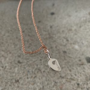 RockHard Mini Necklace on rose-gold plated silver chain