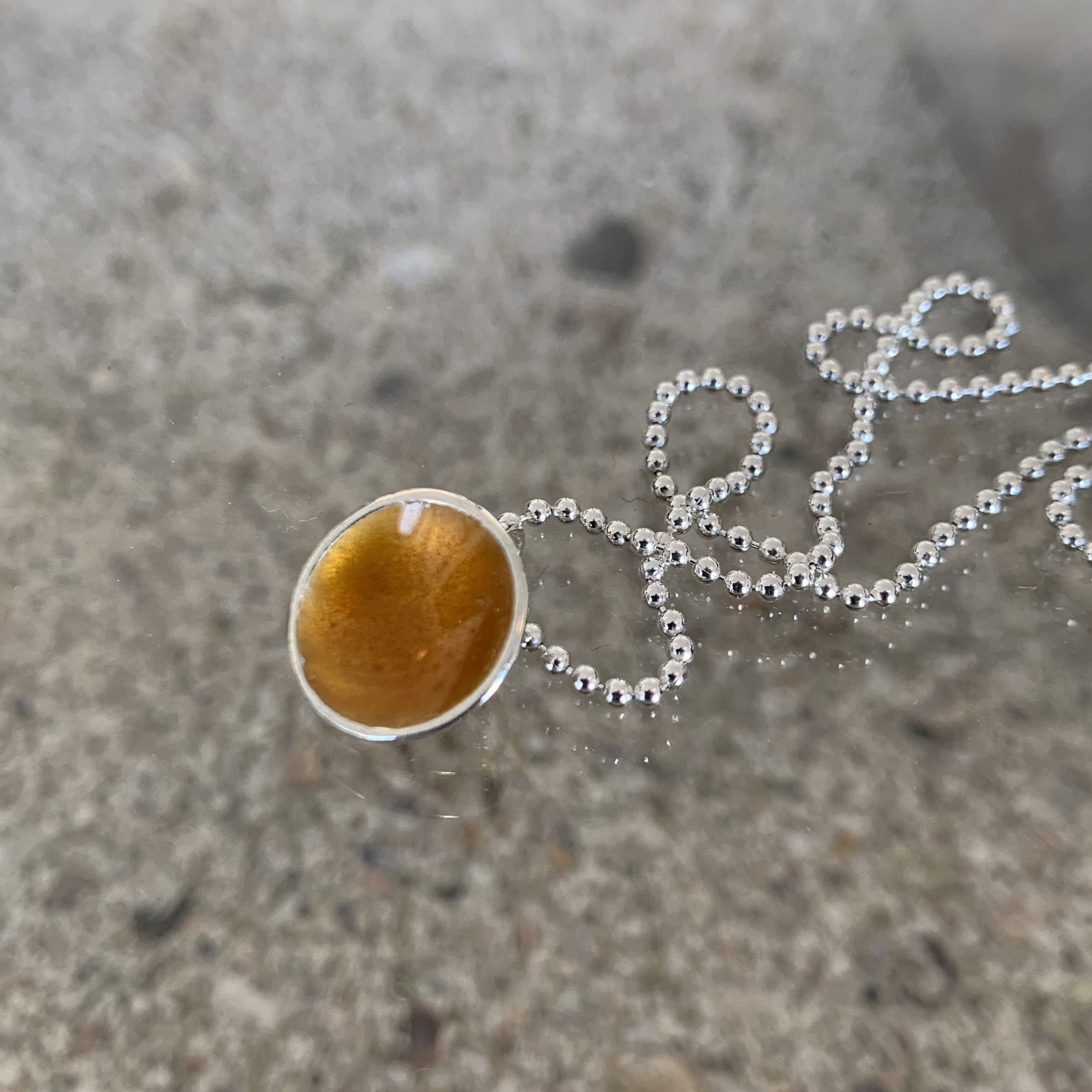 Dots Necklace Warm Midnightsun Yellow