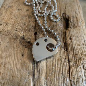 RockHard Necklace Black Diamond & Solid 925 Sterling Silver