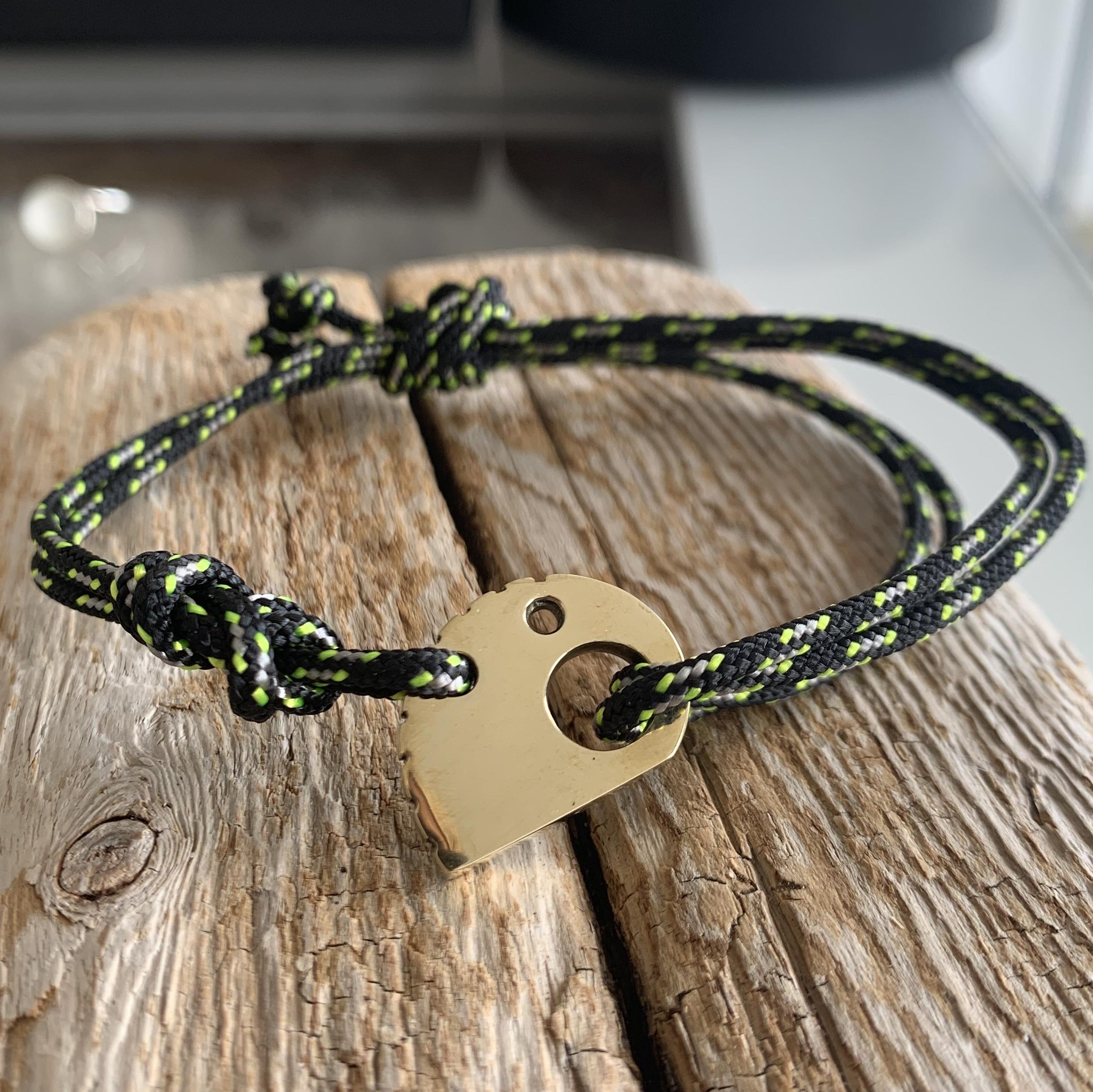 RockHard Bracelet Bronze Black Ropestring