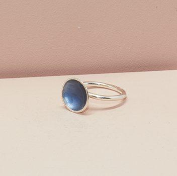 Dots Ring Blue-Grey
