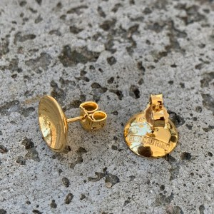 Dots Naked Gold Plated Studs 10 mm
