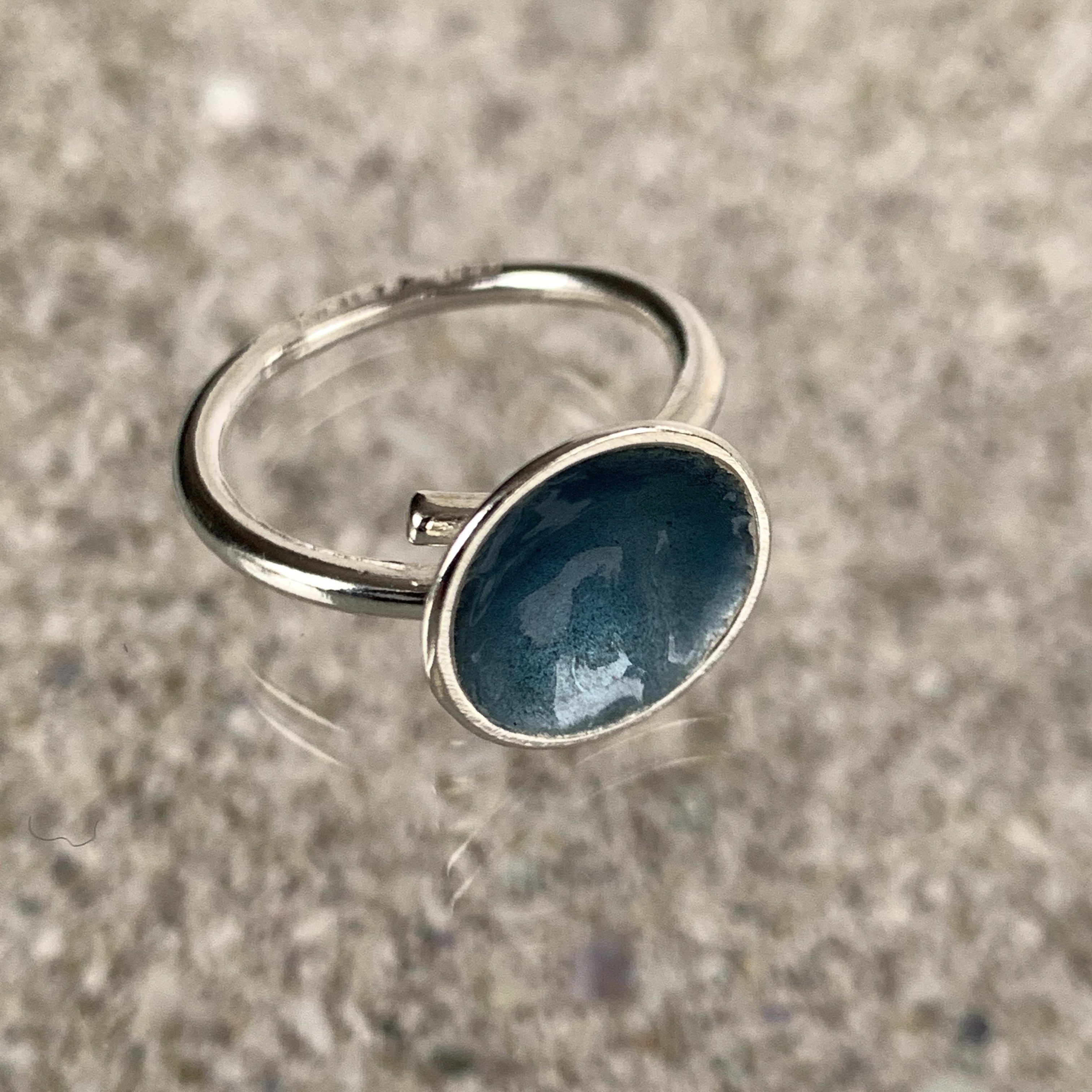 Dots Ring Winter Ocean 12 mm