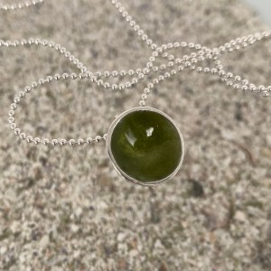 Dots Necklace Olive