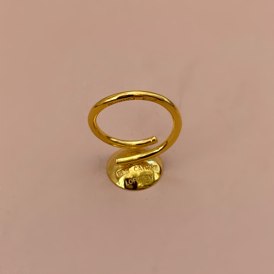 Dots Ring Naked Gold Plated UpSideDown