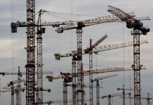 cranes construction building cities
