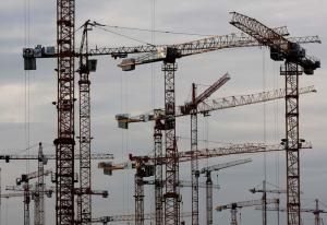 cranes construction building cities