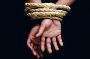 tied hands rope