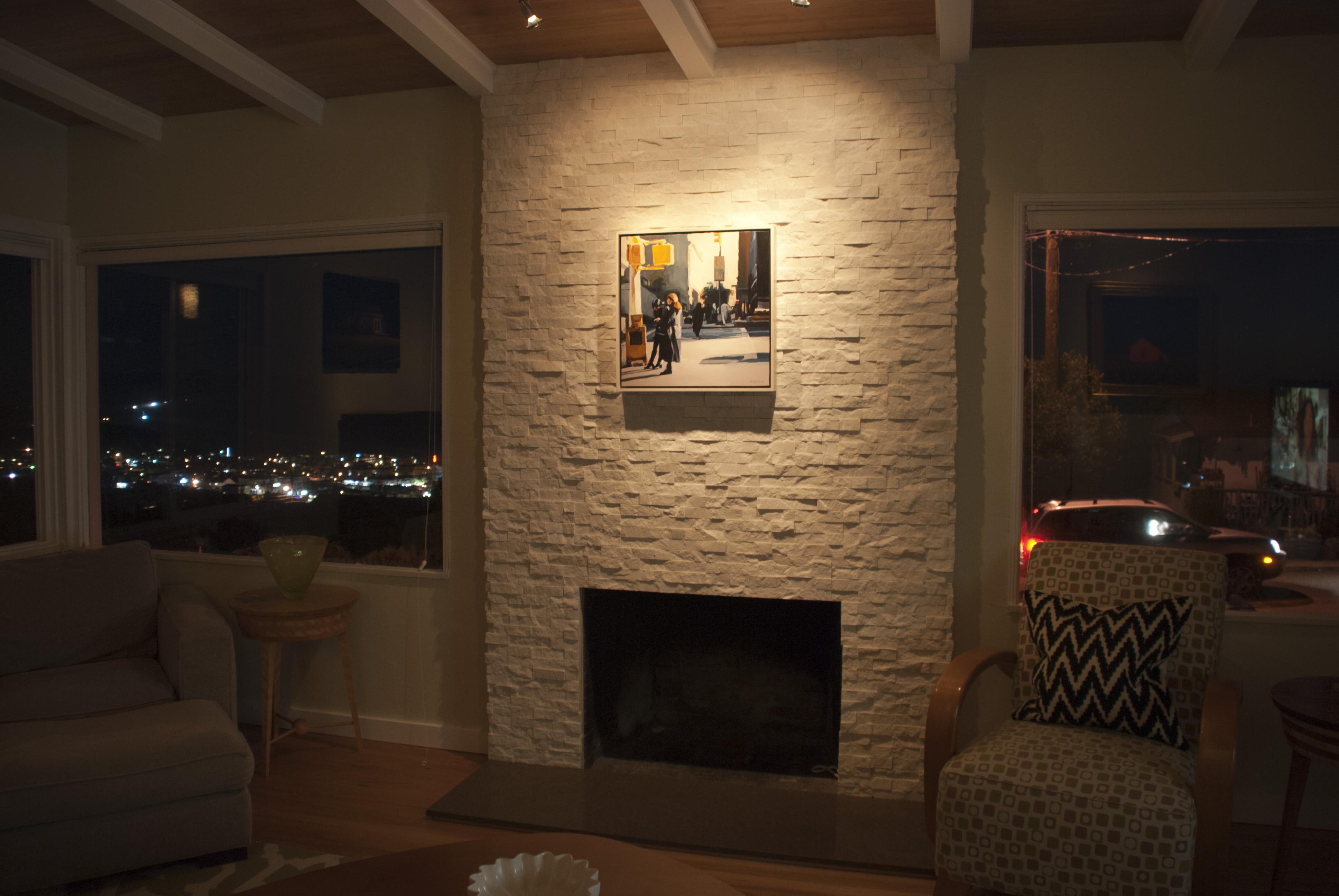 White Quartz Fireplace