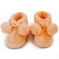 Knitted Baby Bootie Knit Baby Socks Newborn Booties Wool ...