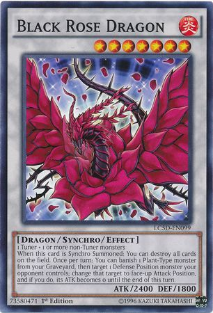 For yu gi oh black rose dragon