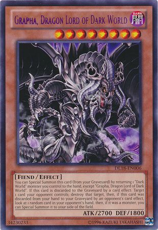 Grapha Dragon Lord of Dark World  DL18EN006  Rare  Yu