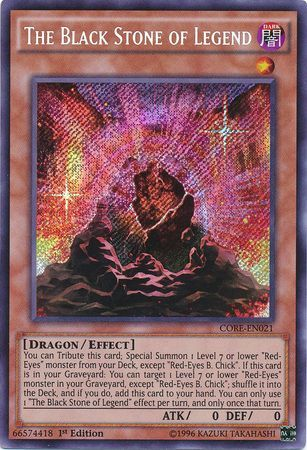 The Black Stone Of Legend CORE EN021 Secret Rare 1st