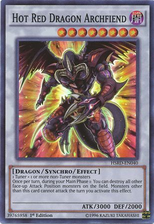 Hot Red Dragon Archfiend HSRD EN040 Super Rare 1st Edition High Speed Riders 1st Edition