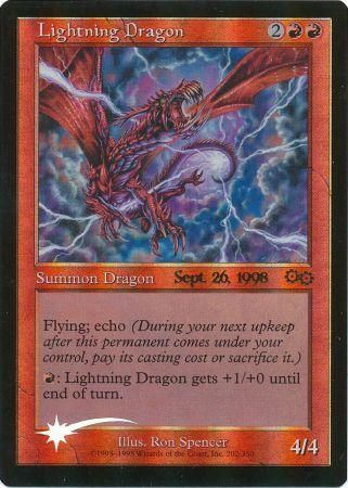 Lightning Dragon Prerelease Promo Magic The Gathering