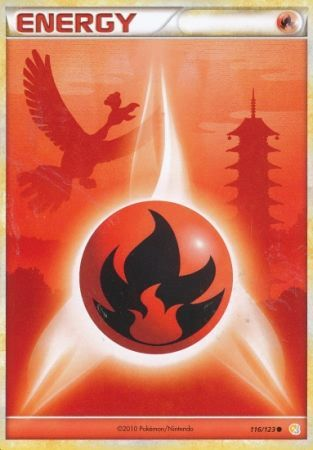 Fire Energy 116123 Common Heart Gold Soul Silver Base Set Pokemon
