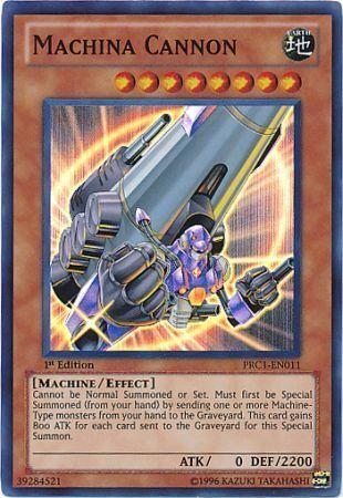 Machina Cannon  PRC1EN011  Super Rare  YuGiOh Promo