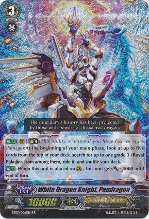 White Dragon Knight Pendragon  EB03005EN  Double Rare