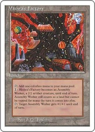 Mishras Factory  MTG 4th Edition Magic Cards Singles