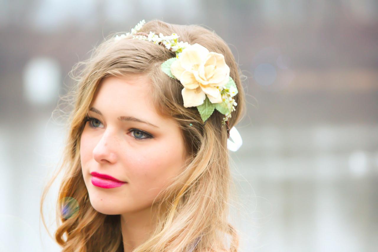 Bridal Headband, Wedding Accessories, Natural Bridal